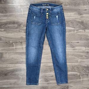 Michael Kors Size 4 Skinny Blue Jeans Ankle Crop